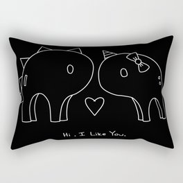 Chalk Hi. I like you. Rectangular Pillow