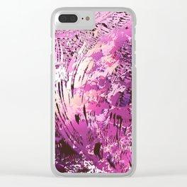 texture in fuchsia Clear iPhone Case