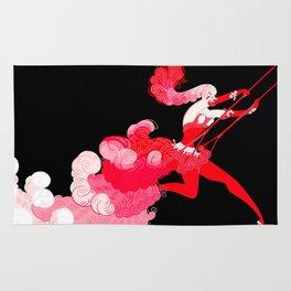 """Art Deco Illustration """"Trapeze"""" by Erté Rug"""