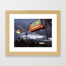 Lindy's Diner Framed Art Print