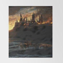 Harry Potter - Hogwart's Burning Throw Blanket