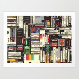 Cassettes, VHS & Games Art Print