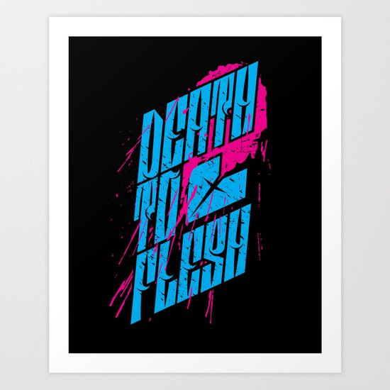 Death to Flesh Art Print