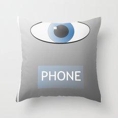 Eye Phone Throw Pillow