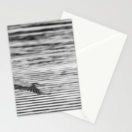 A Great Blue Heron Flying Over Cool Water Ripples Stationery Cards