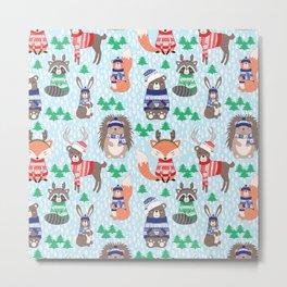 Christmas woodland Metal Print