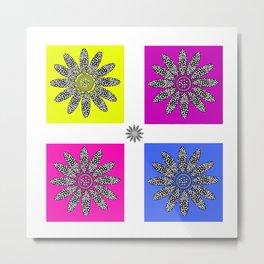 Daisy dot pink 1 Metal Print