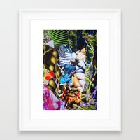 vegetable Framed Art Prints featuring Vegetable Gremlin by John Turck