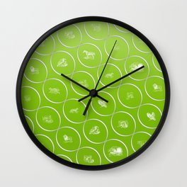 Abstract pattern with animal shapes Wall Clock