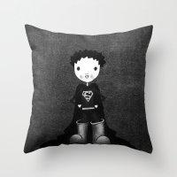 superhero Throw Pillows featuring Superhero by Sylphing