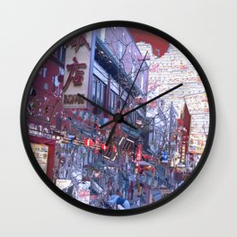 Yokohama Chinatown Wall Clock