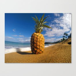 Beached Pineapple Canvas Print