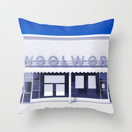 F.W. Woolworth All White Throw Pillow