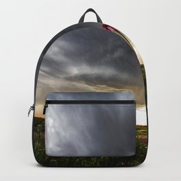 Stay Strong - Flowers Brace for Incoming Storm in Kansas Backpack