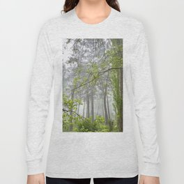 Foggy morning into the dream forest Long Sleeve T-shirt