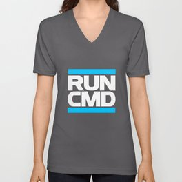 run CMD Unisex V-Neck