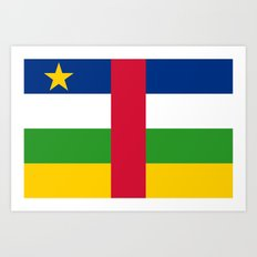 National flag of the Central African Republic or CRA - Authentic version to scale and color Art Print