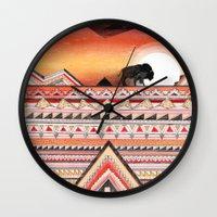 journey Wall Clocks featuring Journey by Sandra Dieckmann
