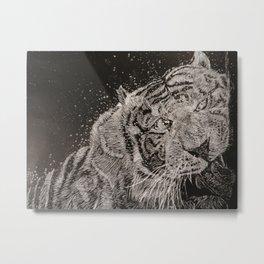 The Tiger Metal Print