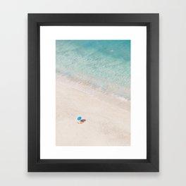 The Aqua Umbrella Framed Art Print