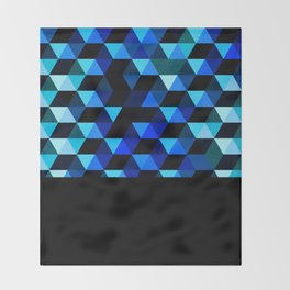 Geometric fire Throw Blanket