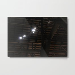 Light Through the Cracks in the Roof Metal Print