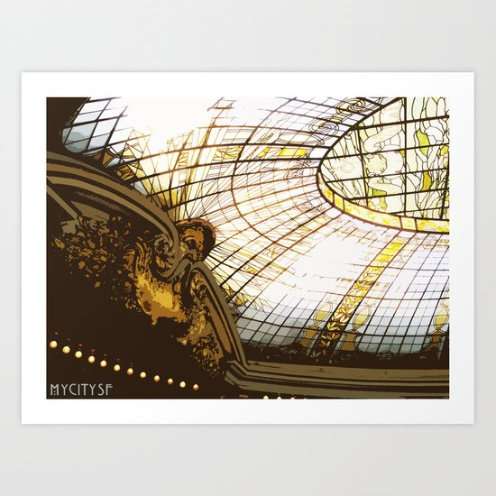 Beneath the rotunda Art Print