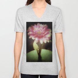 Vintage Dreamy Flower Unisex V-Neck
