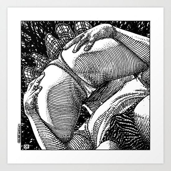 asc 682 - Les rendez-vous du crépuscule (Visitors in the twilight) #08 Art Print