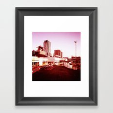 Trains to Central Framed Art Print