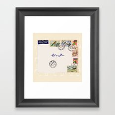 French Postage, meet me in Paris Framed Art Print