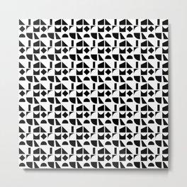 Black & white geometry Metal Print