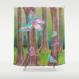 Butterfly Forest II Shower Curtain