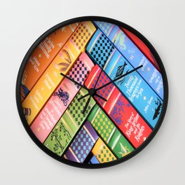 Leather Bound Classics Series - Part 2 Wall Clock