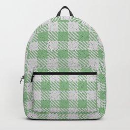 Dark Sea Green Buffalo Plaid Backpack