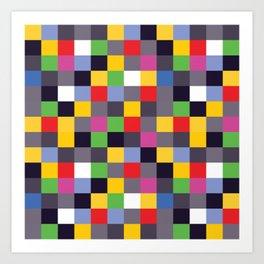 Pixel Madness Art Print