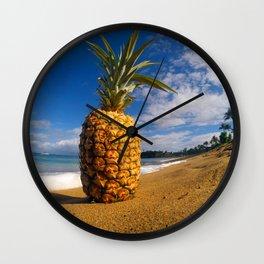 Beached Pineapple Wall Clock