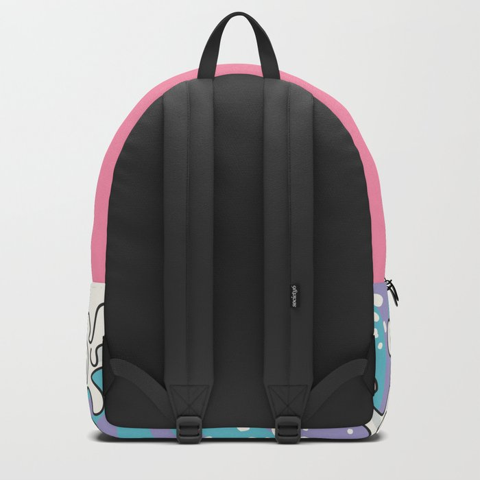 Psychodelic Bubblegum Kunagawa Surfer Cat Backpack