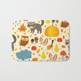 Woodland Animals Bath Mat