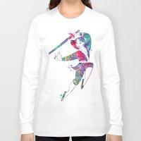 mulan Long Sleeve T-shirts featuring Princess Mulan  by Bitter Moon
