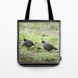 Sunday Afternoon Quail  Tote Bag