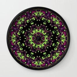 Neon Kaleidoscope 1 Wall Clock