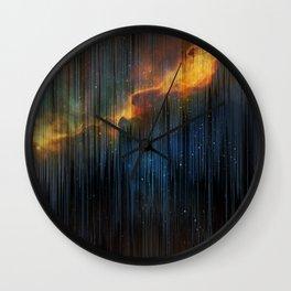 Planet Pixel Fall Down Wall Clock