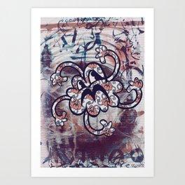 Cloudz at Red Art Print