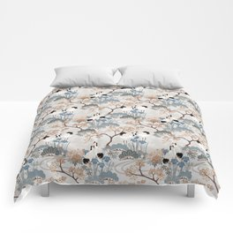 Japanese Garden Gray Comforters