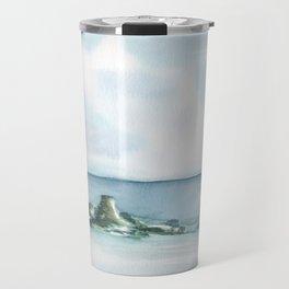 2019 Watercolor Sea Scape Series 003 Watercolor Painting Travel Mug