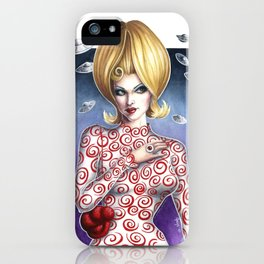 Mars Attacks Martian Girl iPhone Case