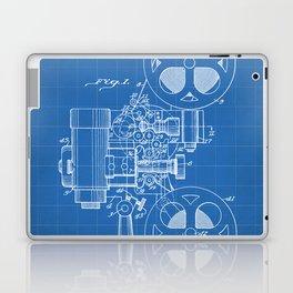 Film Projector Patent - Cinema Art - Blueprint Laptop & iPad Skin