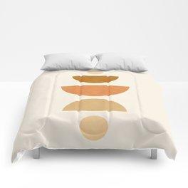 Abstraction_Geometric_Shape_Moon_Sun_Minimalism_001D Comforters