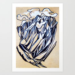 Glacial Flow : Jumbo : Single Line Art Print